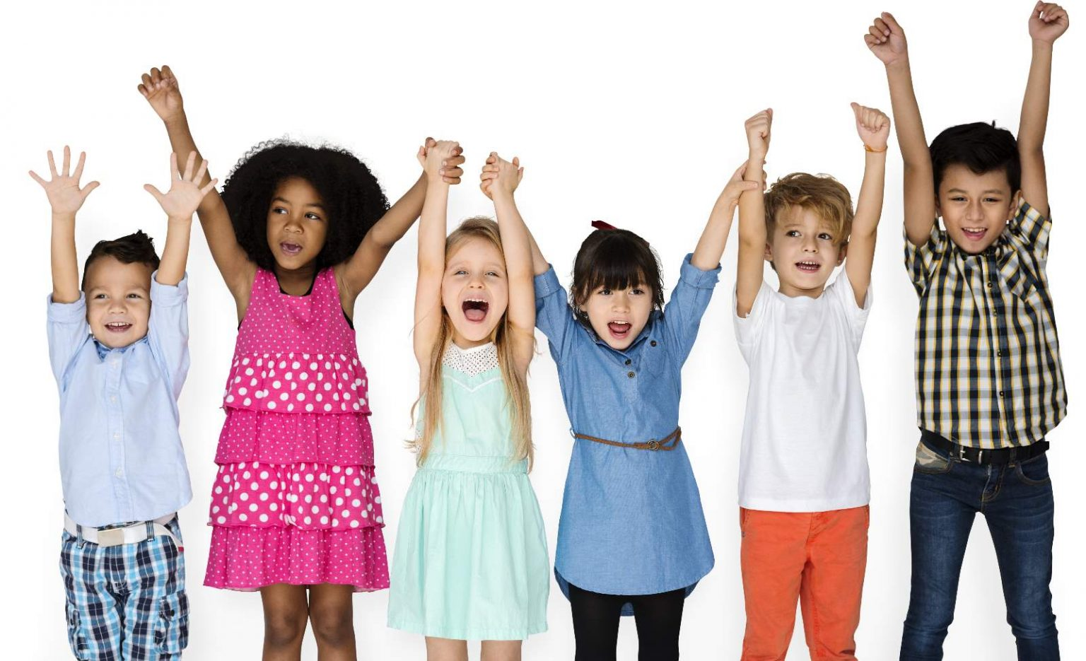 Kids Cheering at Party