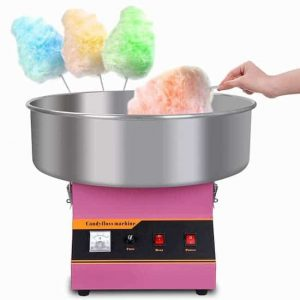 Hand spinning fairy floss