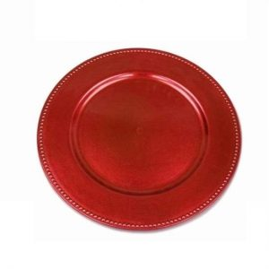Red Charger Plate