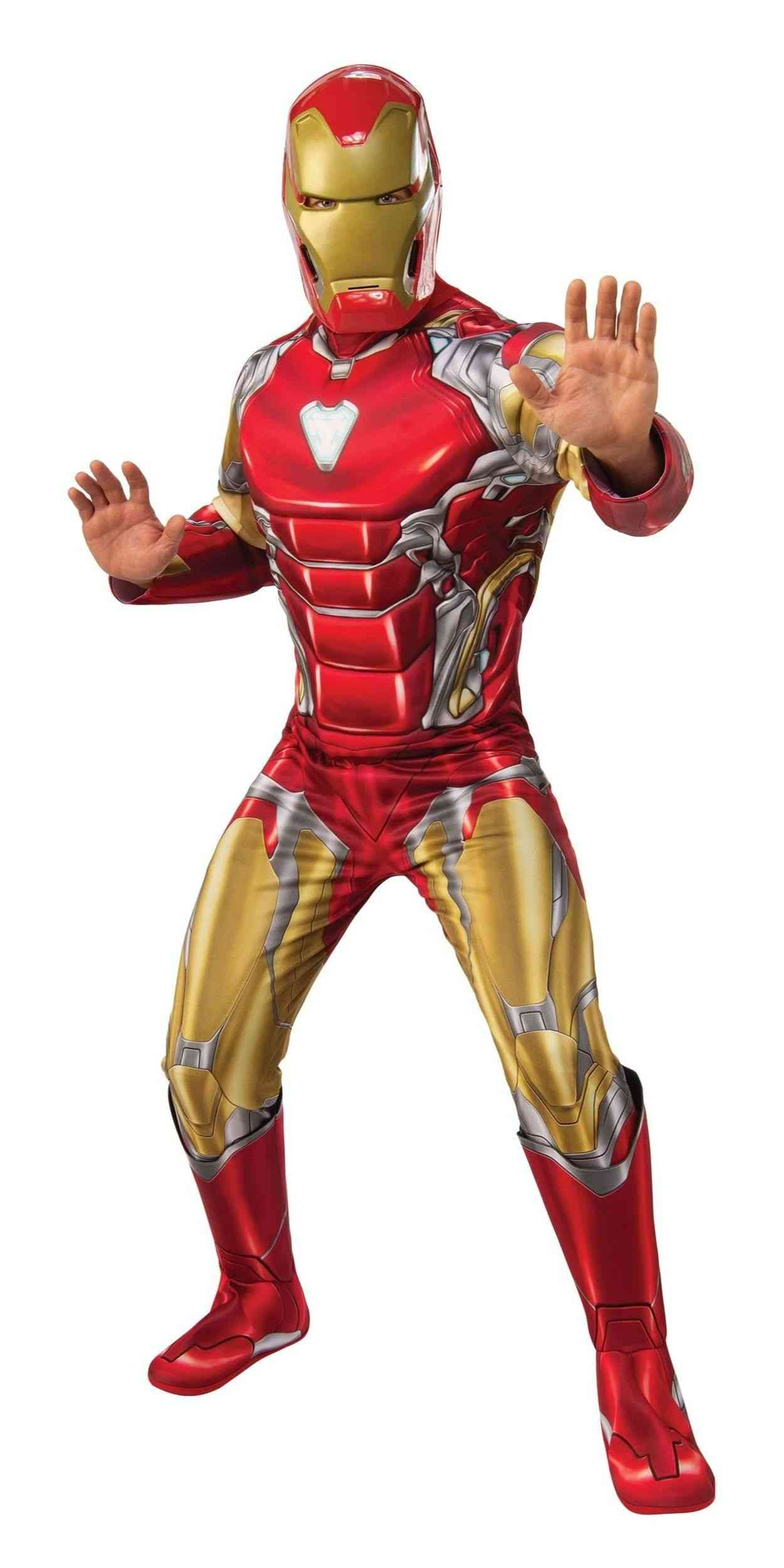 Man in Iron Man Party Costume