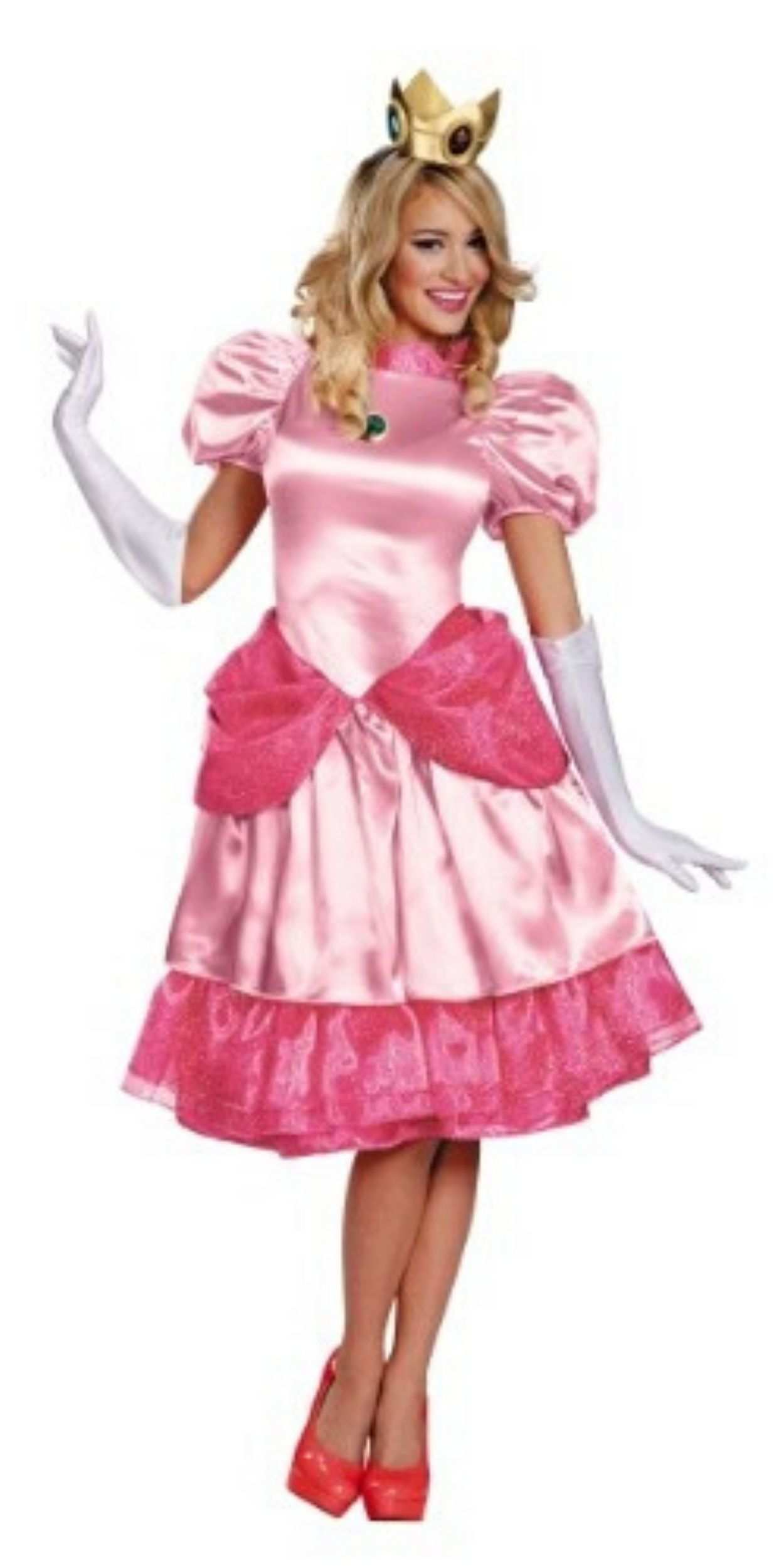 Woman in Pink Princess Party Costume