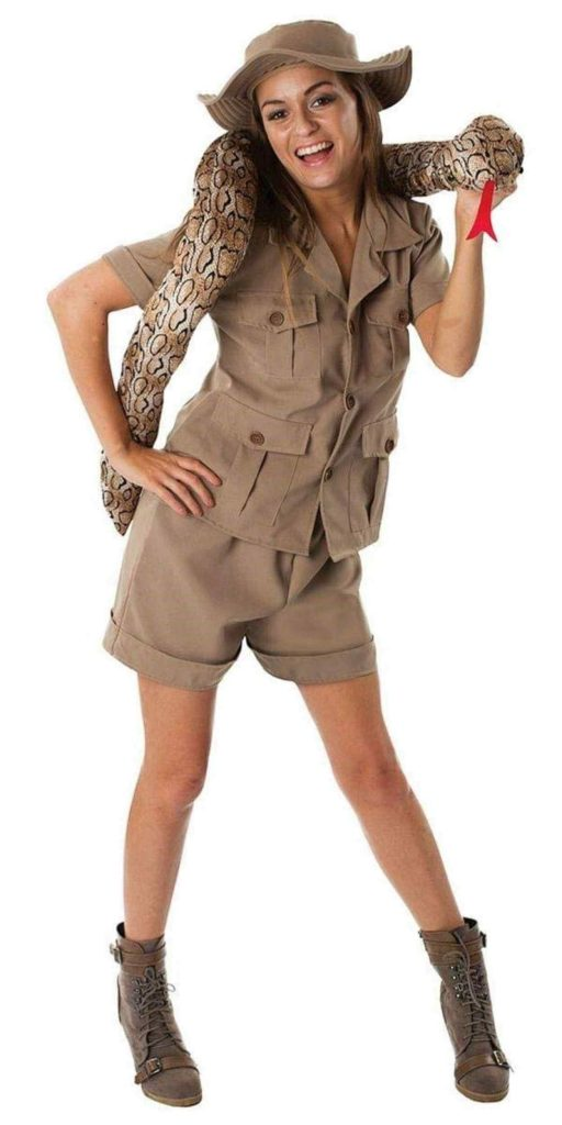 Woman in Ranger Party Costume