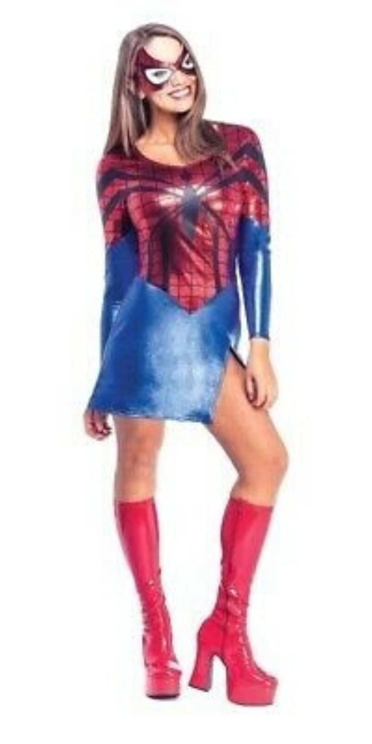 Woman in Spider-Girl Party Costume