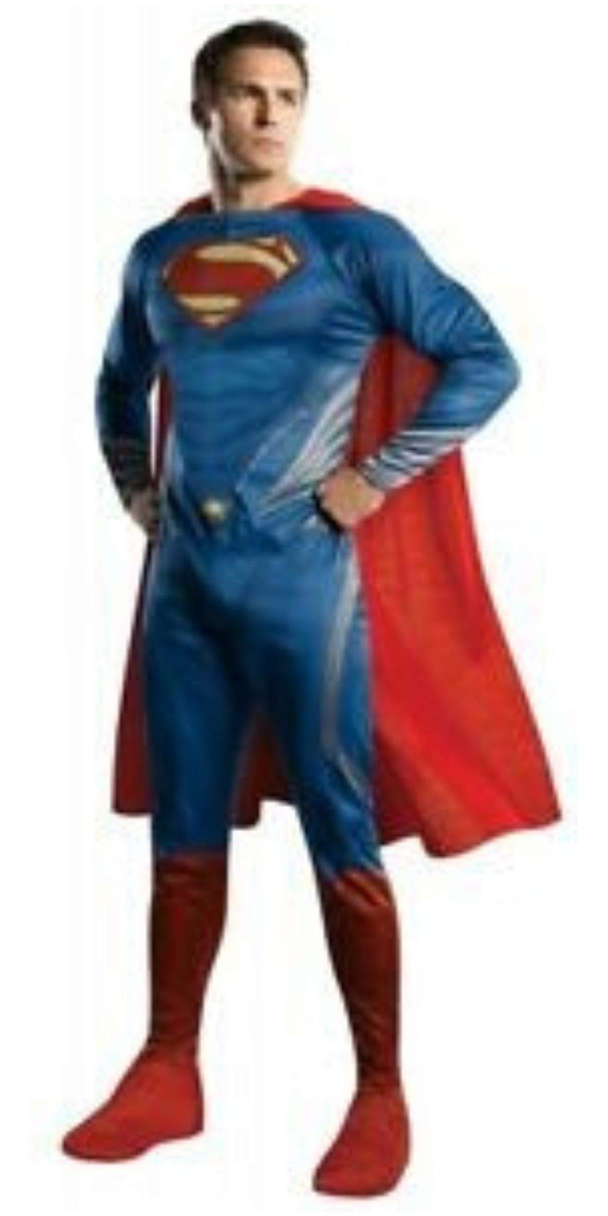 Man in Superman Party Costume