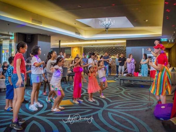 Kids dancing at a disco party in melbourne